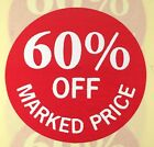 60% Off Marked Price Labels (Stickers) 30mm diameter