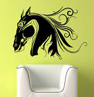 Vinyl Wall Decal Sticker Decor Flowing Horse Head 30""