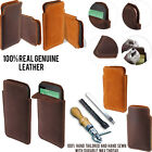 For HTC Desire 510 Desire 512 Slim Sleeve Genuine Real Leather Case Cover + Pen