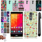 For LG Magna H502G Volt 2 LS751 G4c Mini TPU SILICONE Rubber Case Cover + Pen
