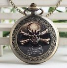 antique Steampunk 3D devil Skull Pocket Watch Necklace skeleton pocket watch #08