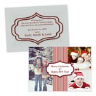 Personalised Christmas greeting cards CHRISTMAS THREE PHOTOS CURLY BORDER FREE E