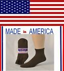 Men women BROWN diabetic ANKLE socks 80% Cotton gift for him her shoe size 7-12