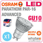 NEW! OSRAM LED BULBS PARATHOM PAR16 ADVANCED GU10 10mm RETROFIT BASE SPOT LIGHTS