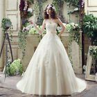 Elegant tulle Appliques Wedding Dress Cheap In Stock Bridal Gowns US Size 4-16