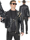 Adults Terminator Costume Mens Licensed Judgement Day Fancy Dress 1980s Outfit