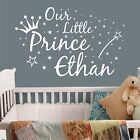 personalised wall art sticker quote Our little prince , Baby Nursery Childrens