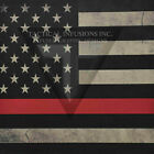 "Kydex Infused Thin Red Line Flag  Print 11 7/8"" X 7 7/8"" 1 Sheet"