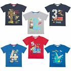 Boys Novelty Birthday Age Number T Shirt Short Sleeve Top Kids Childrens Size