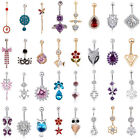 Popular Navel Belly Ring Rhinestone Button Bar Barbell Body Piercing Jewelry New