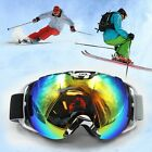 1x Ski Snowboard Snow Dual Lens Anti-Fog Red/White/Green/Blue Frame Goggles Spor