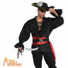 Adult Deluxe Pirate Shirt Mens Buccaneer Fancy Dress Costume Outfit New
