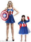 Girls Ladies Miss USA America Woman Costume Fancy Dress Superhero Comics