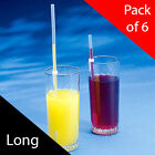 250mm Pat Saunders One Way Straws - Pack of 6