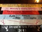 Personalised Hen Party Night Accessory Birthday Bride Sash METALLIC FROM £1.95