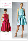 Vogue 1434 Isaac Mizrahi American Designer Easy Party Dress Sewing Pattern V1434