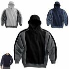 MEN'S PULLOVER, MID-WEIGHT, SUEDED FINISH, SPORTY LOOK HOODIE, S M L XL 2X 3X 4X