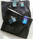MENS YARRA BANK AUST CASUAL PANTS NON IRON 100% COTTON BLACK NAVY WRINKLE FREE