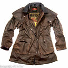 Mens Kakadu Iron Bark Jacket Heavy Oilskin Brown drover style outback classic