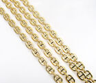 "16-24"" 3mm 10k Yellow Real Gold Tight Mariner Anchor Curb Chain Necklace Mens"