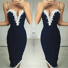 Fashion New Women Summer Sleeveless Lace Evening Party Cocktail Short Mini Dress