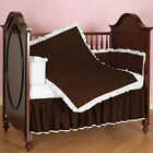 Cradle Reversible Bedding set 3pc Fitted Ruffle Comforter Bumper