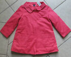 NWT BABY GAP Cozy Cute Desert Palm Easter Guava Pink Coat Jacket 18 2 4 NEW $55