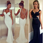 Sexy Women Summer Casual Backless Party Evening Cocktail Long MAXI Dress S-XL
