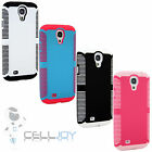 Dual Layer Impact Hybrid Hard Case Cover For SAMSUNG GALAXY S IV S 4 i9500