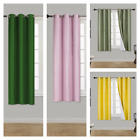 92 curtains - 2 PANELS SOLID BLACKOUT THERMAL GROMMET FOAM LINED WINDOW CURTAIN DRAPE K92
