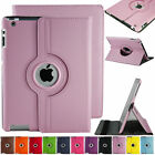LIGHT PINK Leather 360 Degree Rotating Smart Stand Case Cover For APPLE iPad 2
