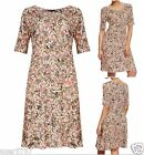 New Ex M&S Floral Multi Colour Short Sleeve Jersey Casual Summer Dress Size 6-22