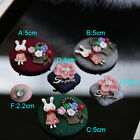 5-30pcs 2.2-5cm red/green/gray/pink rabbit clothes brooch appliques patch 3576