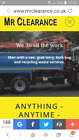 GRAB LORRY -MINI SKIPS - 1 TON BAGS- RUBBISH CLEARANCE-LICENCED WASTE CARRIER