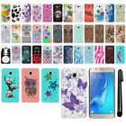 For Samsung Galaxy J5 J510 2nd Gen 2016 PATTERN HARD Back Case Phone Cover + Pen