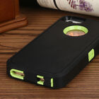 For iPhone 5 5s SE Rugged Shockproof Heavy Duty Hybrid Hard Cover Clip Case NEW <br/> w Screen Protector/ Free Shipping/ Holster/ US STOCK!