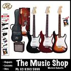 SX Electric Guitar Starter Beginners Pack 3/4 Size Amp Cable Picks Strap - NEW