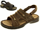 Mens Northwest Territory Real Leather Sandals Velcro Strap Size 7 8 9 10 11 12