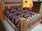 """#25 Camp Blanket Wholesale Western 70""""x85"""" Reversible Native Throw Design Bright"""