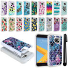 For HTC 10 One M10 Sprint Anti Shock Studded Bling HYBRID Case Phone Cover + Pen