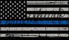 BLUE LIVES MATTER POLICE RUSTIC FLAG STICKER VINYL GRAPHICS DECAL 3.6 x 6.4""