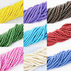 """Candy colors baking paint glass 3mm round beautiful hot  beads jewelry 15""""B1186"""