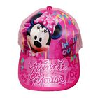 Girls Kids Sun Cap Hat Baseball Peaked Cricket Summer Disney Minnie Mouse Gift