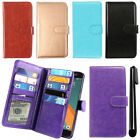 For HTC 10 One M10 Leather Flip Magnetic Card Holder Wallet Cover Case + Pen