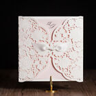 White And Pink Free Personlized Laser Cut Wedding Party Invitations,Envelopes
