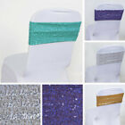 40 Spandex Sequined CHAIR SASHES Ties Wraps Wedding Party Decorations SALE $99.95 USD