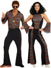 Adults Disco Fever Costume Mens Ladies 1970s Diva Fancy Dress Womens 70s Outfit