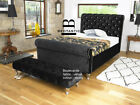 Boulevard Velvet Chesterfield Bed Frame 3ft Single 4ft6 Double 5ft King size