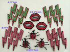 4-6pcs lips lady bugs beads Rhinestones shoes appliques patch brooch 38120