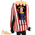 Adult Punch the Puppet Booth Costume Circus Funny Comedy Fancy Dress Outfit New